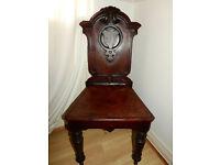 Victorian antique Hall chair