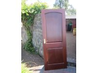 2 Internal mahogany doors with brass ironmongery. Excellent condition.