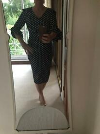 Pretty lantern sleeve polka dot dress