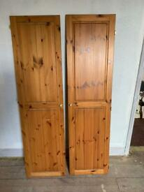 Pair of pine cupboard doors.