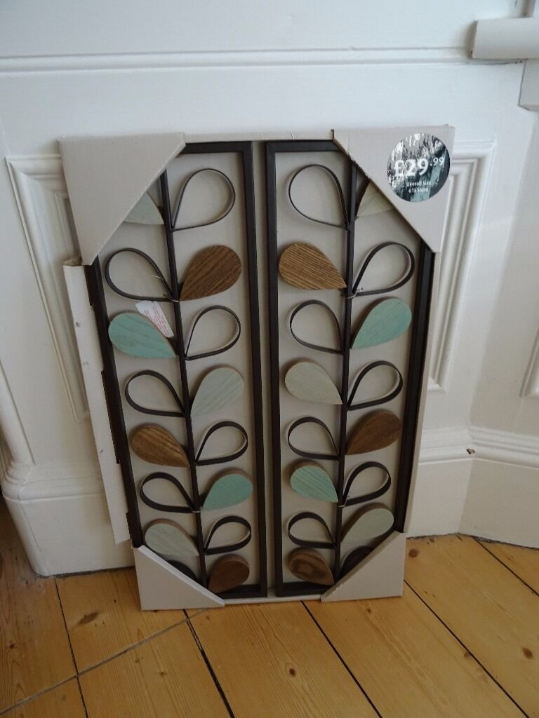 Retro Mid Century Orla Kiely Style Wall Art Sold In