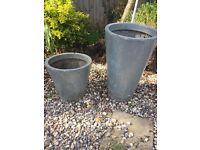 Ikea garden pots x 2