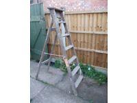 Vintage Ladders wooden Step Ladders
