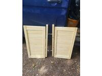 Wooden Slatted cupboard doors