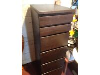 Black Ikea 6 drawer filing cabinet. Very good condition.