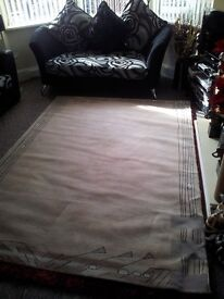 AS NEW VERY LARGE CREAM RUG
