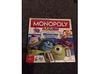 Monopoly junior monsters inc edition