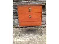 Vintage retro 60s 70s teak wooden mid century STAG chest of drawers bedside cabinet hairpin legs