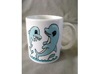 Playful Dolphin Ceramic Mug with gift box/Made to order/NEW
