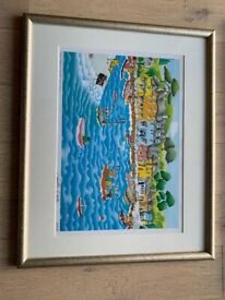Padstow harbour limited edition print