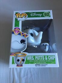 2 pop characters from beauty and the beast, mrs Potts and cogsworth! Both brand new in box