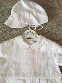Sarah Louise (6mths) Romper Suit with matching hat