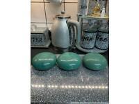 3 ceramic glazed pebbles garden ornaments