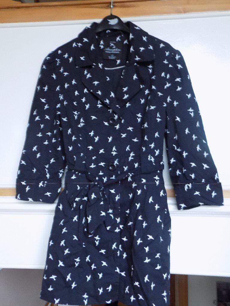 Ladies Navy MacKintosh Style Coat - Size 12