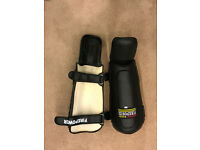 Firepower MMA Shin Guards MMA Martial Arts Large Black Almost New