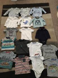 17 baby boy tops 3-6 months