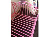 Lovely girls pink heart bed