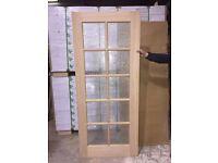 Bevelled Glass Oak Door