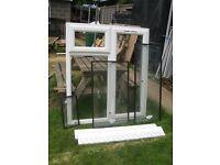Eurocell white UPVC double glazed windows - new 1165 x 1340 mm
