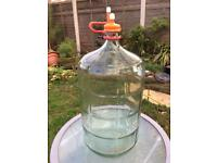 Large carbon demijohn, 23 litres, for home brew/ wine making