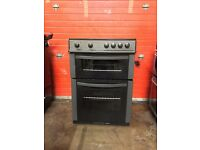 Logik electric cooker LFTC60A12 60cm black double oven 3 months warranty free local delivery!!!!!