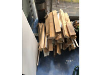 Pile Of Short Cut Timber