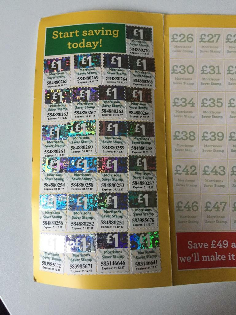 morrisons gift card stamps 25 worth in costessey. Black Bedroom Furniture Sets. Home Design Ideas
