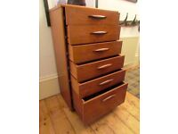 Retro Vintage Large Chest of Drawers Tall Boy Very Good Condition