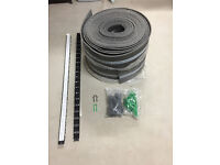 Underfloor Heating Clip Rail Track & Pipe Staples with Perimeter Insulation for sale