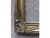 Ornate gilt picture frames