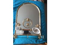 HERITAGE VINTAGE GOLD EFFECT BATHROOM ACCESSORIES SET