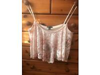 New Look pink camisole top, size 16