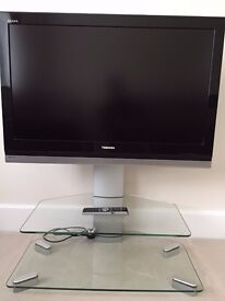 """Toshiba Regza LCD Colour TV 37"""" 37WLT68 Wide Screen TV + Glass Stand (factory fitted stand inc)"""