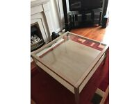 Limed oak g plan coffee table