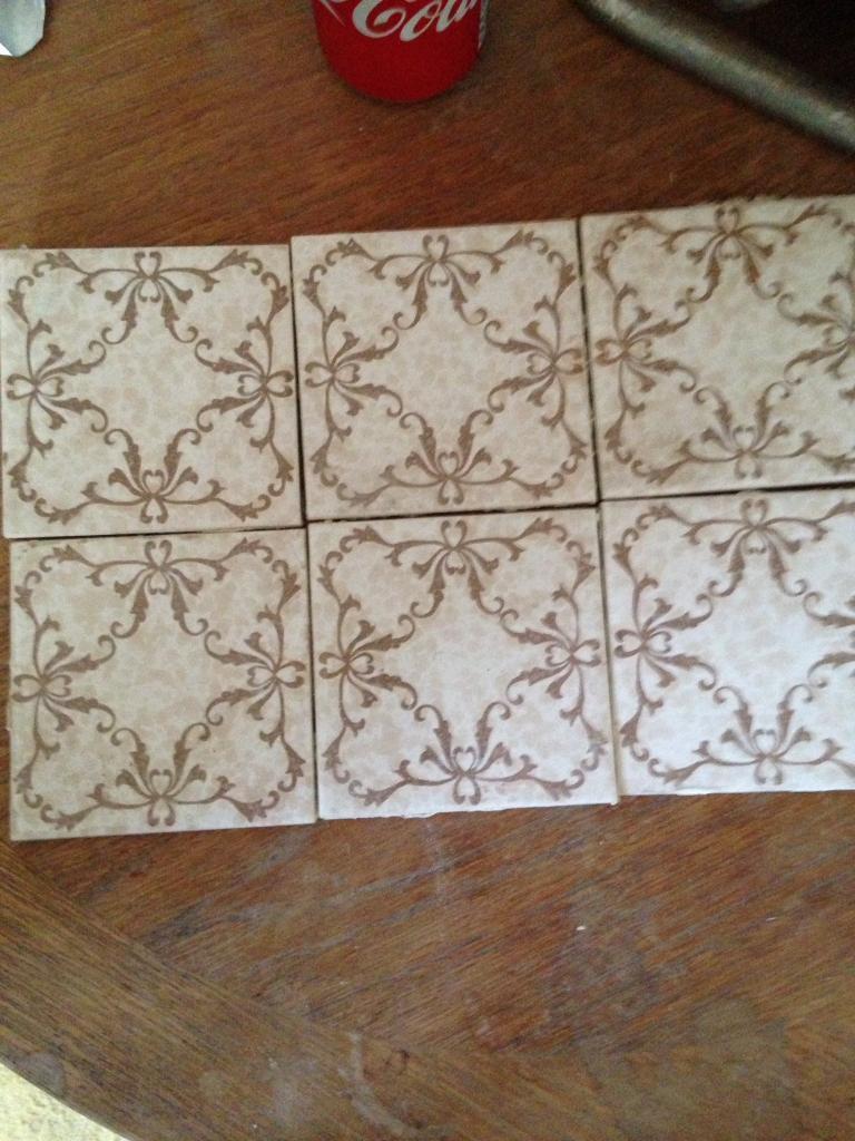 Joblot of vintage 1970s retro reclaimed tile