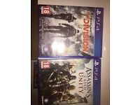 Ps4 games assassins creed unity and Tom clancys division
