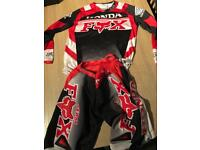 Fox motor cross suit
