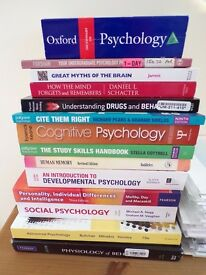 EVERY BOOK YOU'LL EVER NEED FOR A PSYCHOLOGY DEGREE WORTH OVER £400