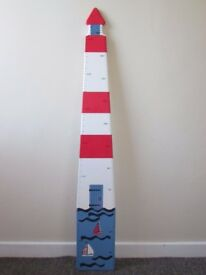 Laura Ashley Lighthouse Nautical Wooden Wall Height Chart, Kids Bedroom furniture, FREE DELIVERY