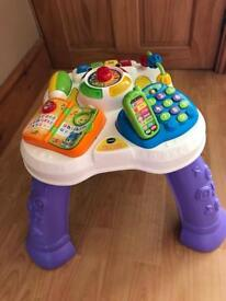 V tech learn and play table