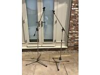 Boom Arm Microphone Stands x 2