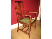 1930's Oak Carver Dining Chair