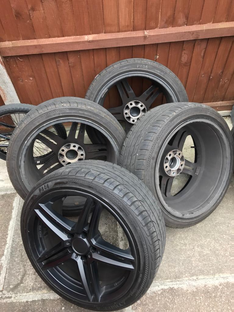 Vauxhall Astra Mk5 Alloy Wheels 5 Stud 18 inch Black