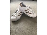 Adidas superstar shell toe ladies trainers size 6