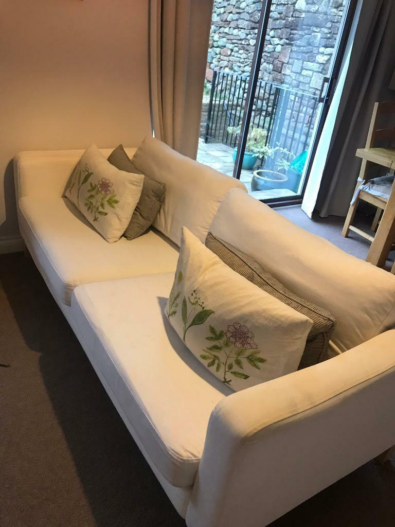Astonishing White Ikea Karlstad Sofa In Penrith Cumbria Gumtree Gmtry Best Dining Table And Chair Ideas Images Gmtryco