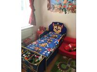Paw Patrol bed with mattress and bedding all in perfect condition. Bargain!