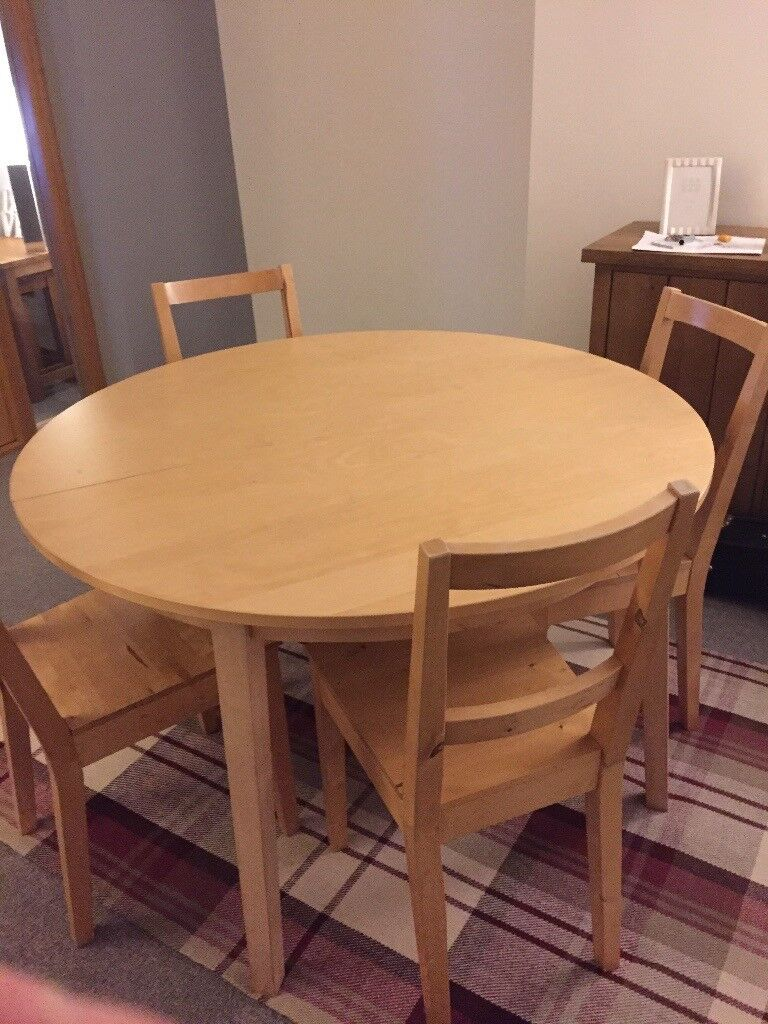 Ikea Bjursta Table And 6 Chairs In Birch Colour