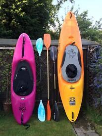 Kayaks for sale.