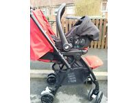 JOIE MIRUS PUSHCHAIR + JOIE CAR SEAT WITH ISOFIX BASE