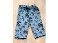Mini Boden needle cord trousers, blue and dark blue - Never worn